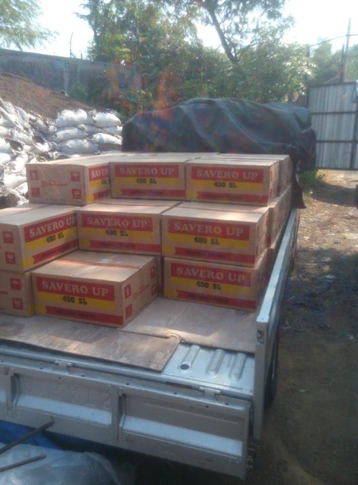 Pengiriman obat-obatan racun rumput ke Jawa Tengah sebanyak 1,5 ton