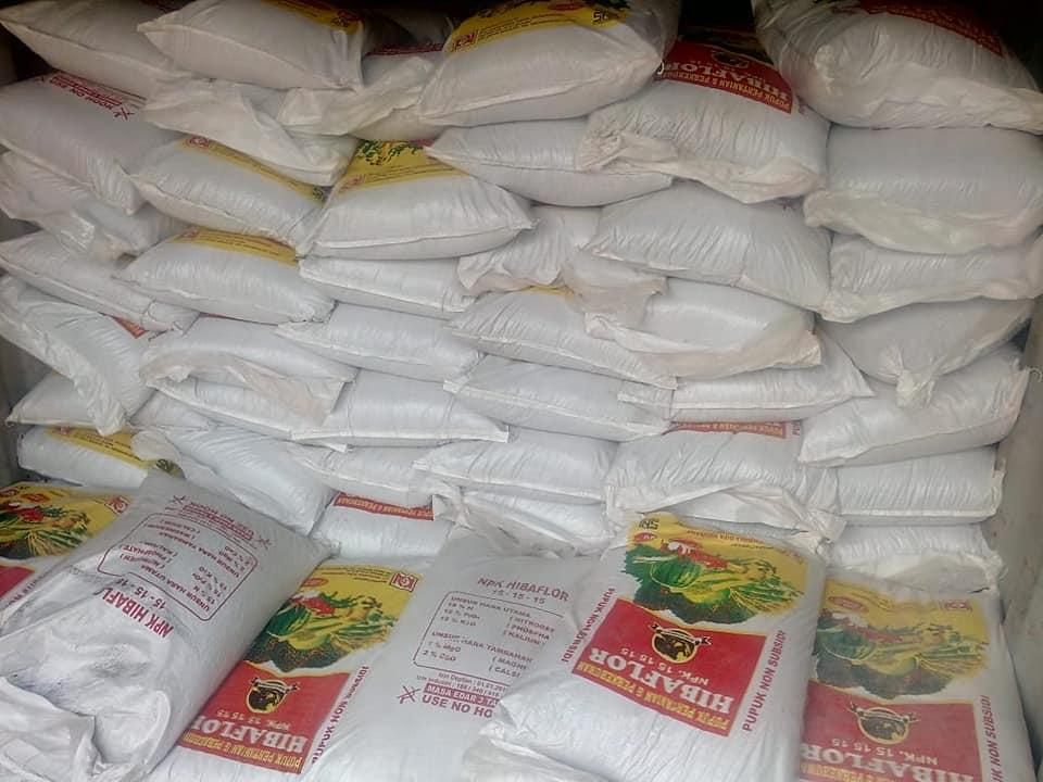 Pupuk npk hibaflor untuk perkebunan sawit Riau sebanyak 470 ton