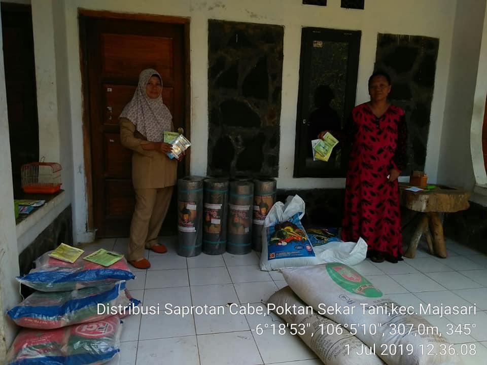 Pembagian pupuk interflor kelompok tani di Jawa Barat