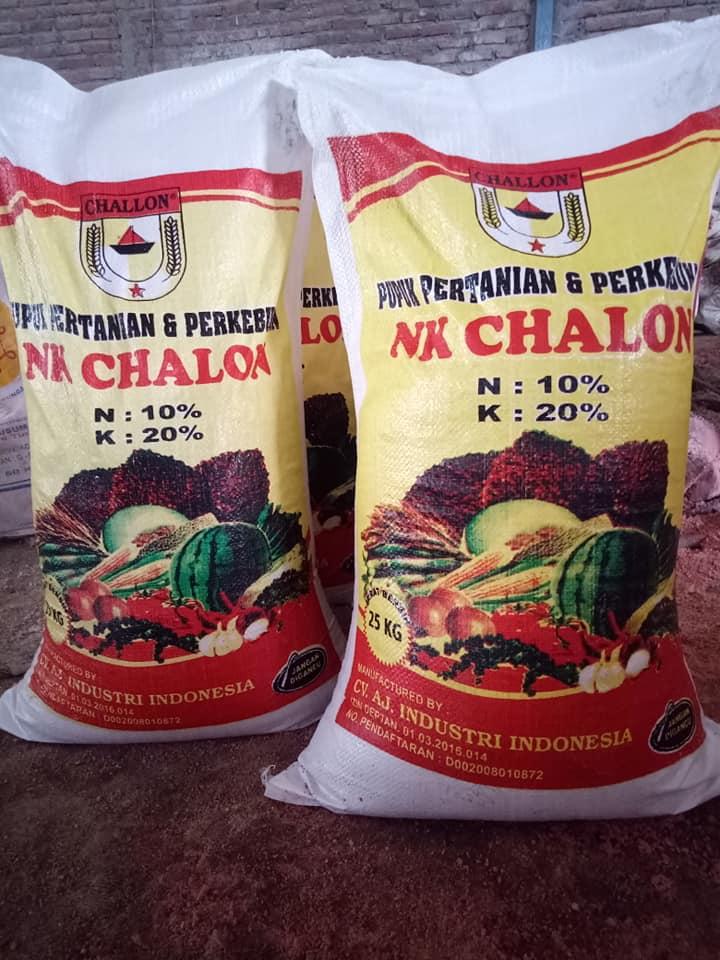Pupuk pertanian dan perkebunan NK Chalon kemasan 25 kg