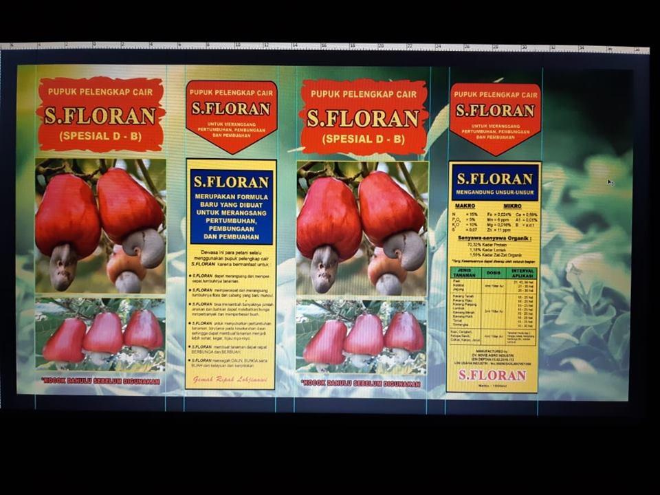 Pupuk pelengkap cair S. Florans khusus tanaman jambu mente PO untuk Sulawesi