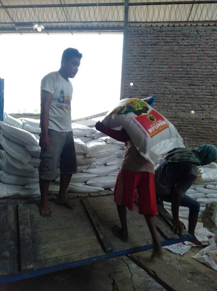 Pengiriman pupuk npk hibaflor ke kota Jawa Tengah sebanyak 9 ton