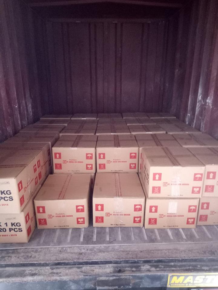 Pengiriman pupuk npk interflor kemasan 1 kg ke gudang ekspedisi NTB