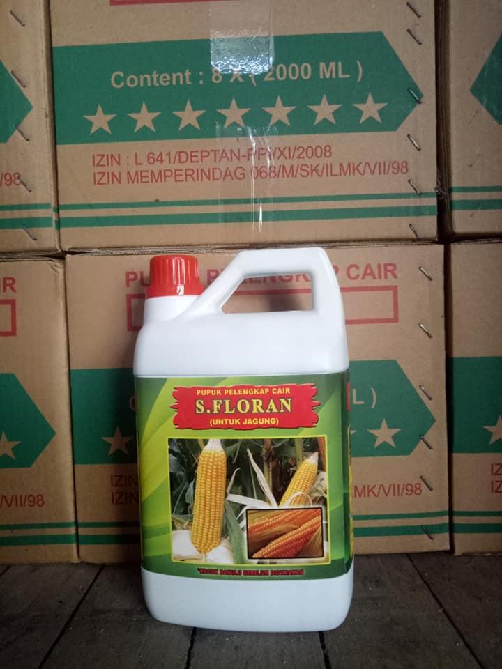 Pupuk pelengkap cair S.Florans kemasan 2 liter khusus jagung PO 1 kontainer ke Sulawesi