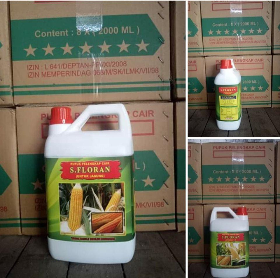 PO Pupuk pelengkap cair daun dan buah S.Florans untuk tanaman jagung kemasan kemasan 2 ltr untuk NTB Dompu sebanyak 50 box