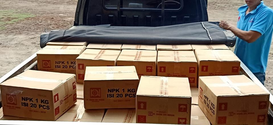 Berangkat ke ekspedisi lagi tujuan NTB, pengiriman pupuk NPK hibaflor kemasan 1 kg