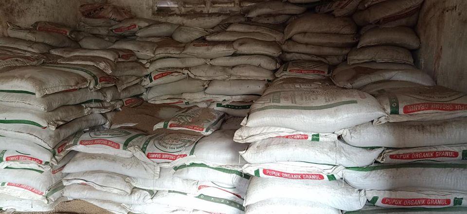 Stok organik granul sebanyak 1600 ton