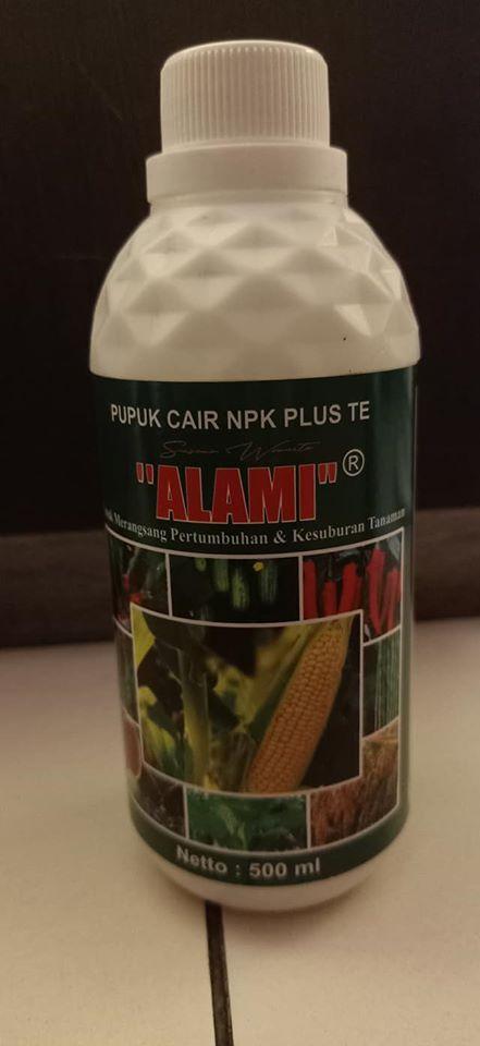 Pupuk pelengkap cair daun dan buah plus TE merek ALAMI, produk ini mash 1 family dengn produk pupuk cair S. florans