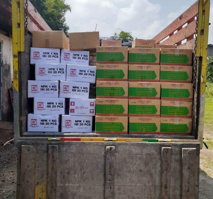 Lanjut muat pupuk ke kios pertanian Mataram