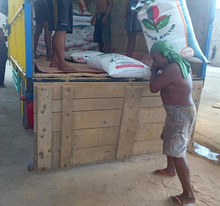 Lanjut muat pupuk urea non subsidi sebanyak 10 ton tujuan Jember