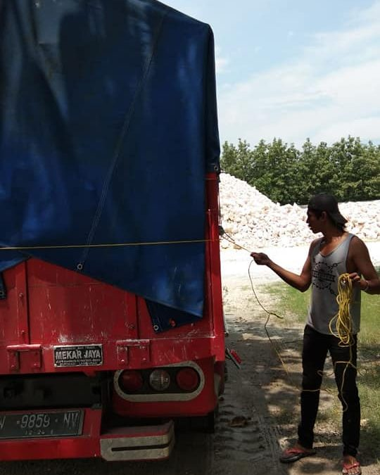 Muatan 10 ton kalsium mess 100%