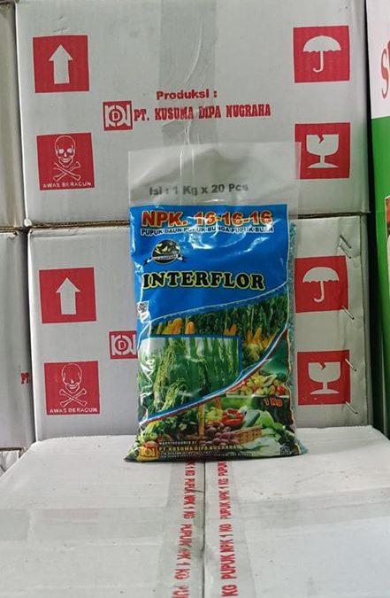 Pupuk NPK Interflor kemasan 1 kg